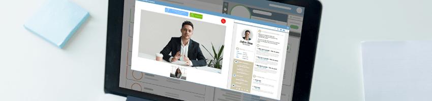 apercu des entretiens videos du logiciel de recrutement Softy